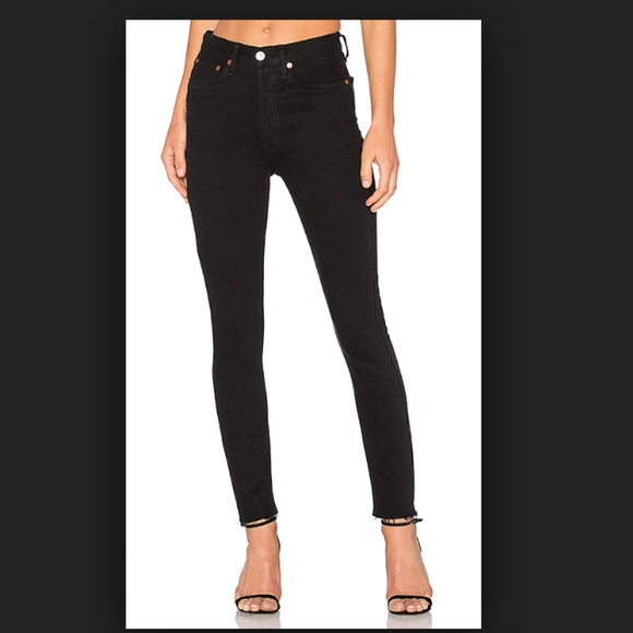 c2630f952300 RE DONE Black Stretch High Rise Ankle Crop 24. M 5ab7568350687c08f76116b5